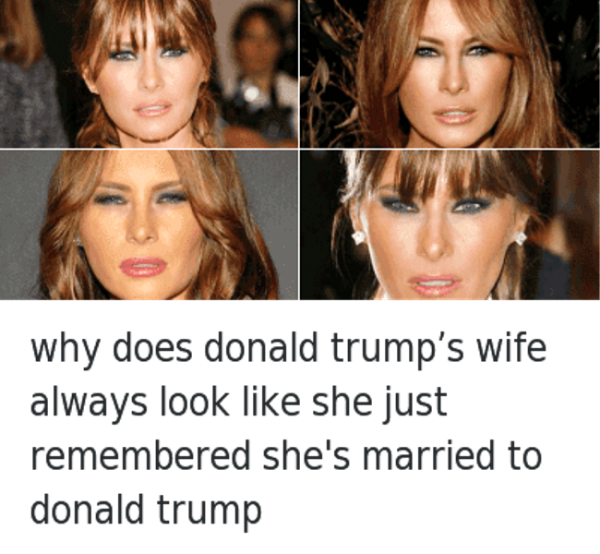 Why Does Donald Trumps Wife Always Look