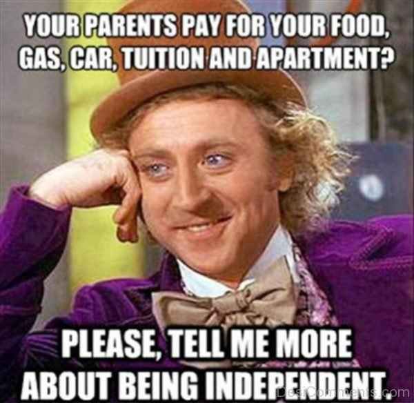 Your Parents Pay For Your Food