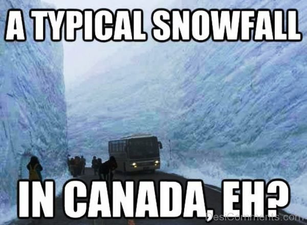 A Typical Snowfall In Canada