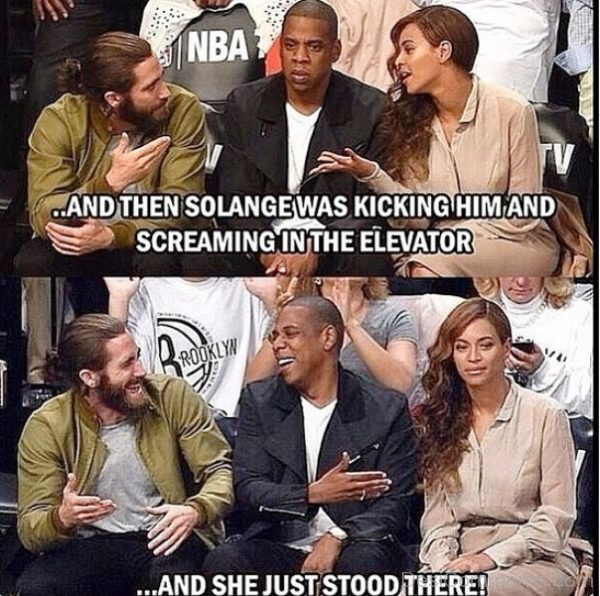 And Then Solange Was Kicking Him