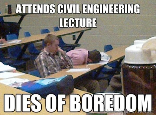 Attends Civil Engineering Lecture
