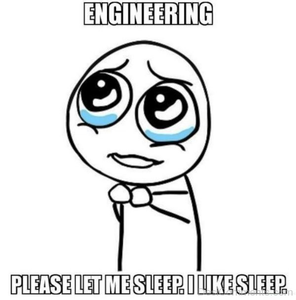 Engineering Please Let Me Sleep