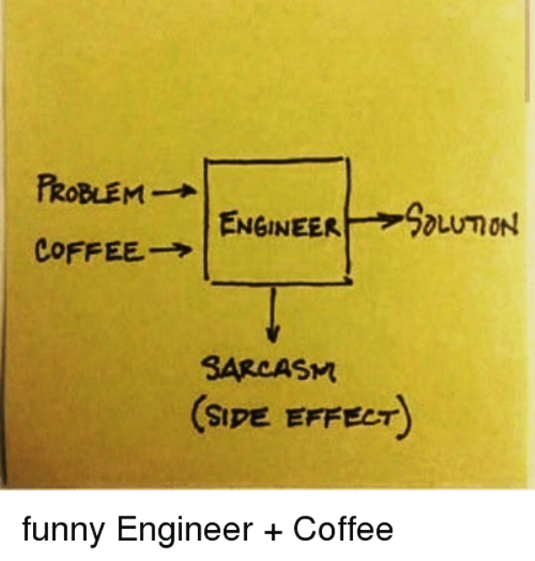 Funny Engineer And Coffee