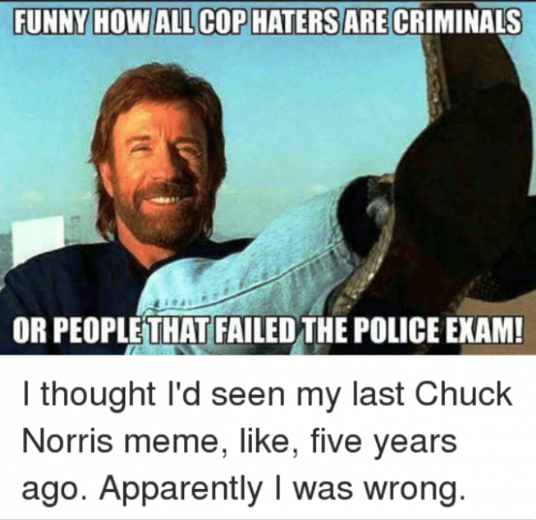 Funny How All Cop Haters Are Criminals