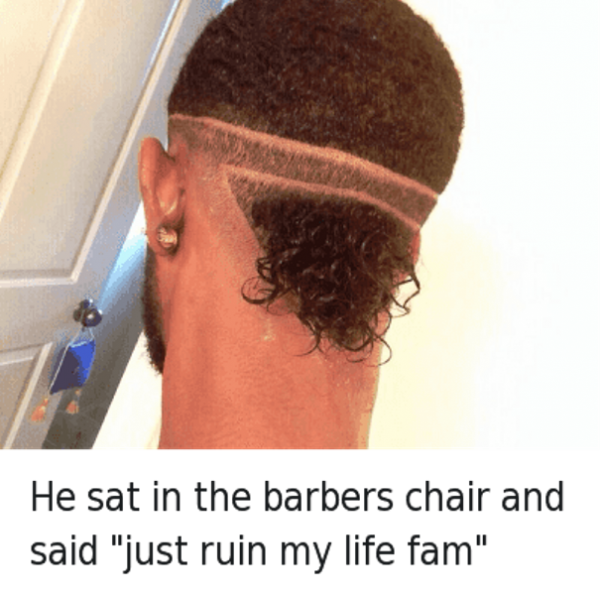 He Sat In The Barbers Chair