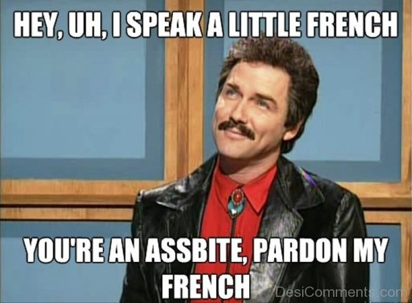 Hey You I Speak A Little French