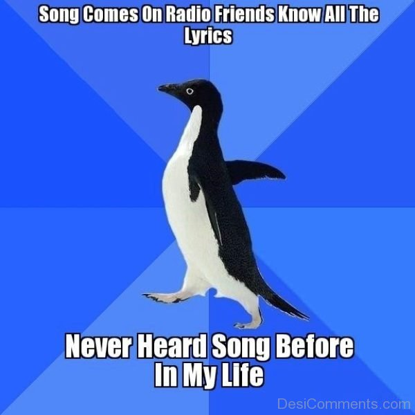 Song Comes On Radio Friends