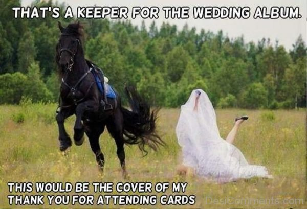 Thats A Keeper For The Wedding Album