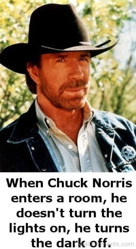 When Chuck Norris Enters A Room