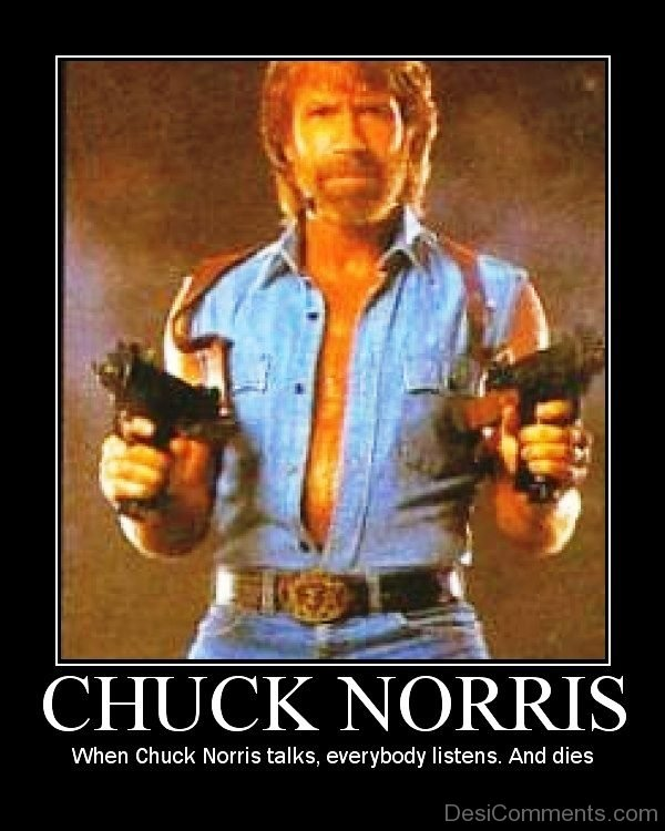 When Chuck Norris Talks