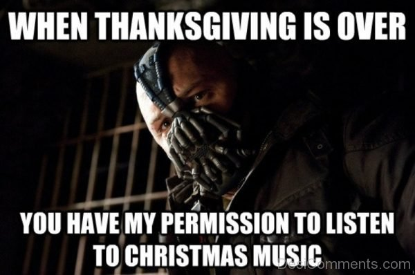 When Thanksgiving Is Over