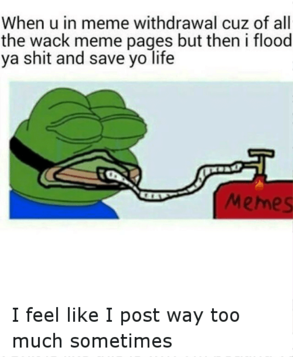 When You In Meme Withdrawal