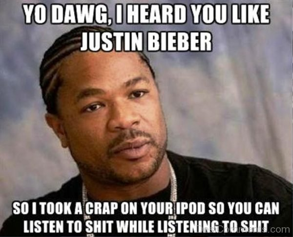 Yo Dawg I Heard You Like Justin Bieber