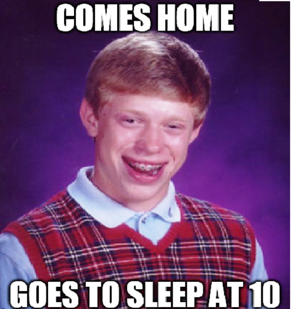 Comes Home Goes To Sleep At 10