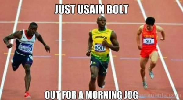 Just Usain Bolt Out