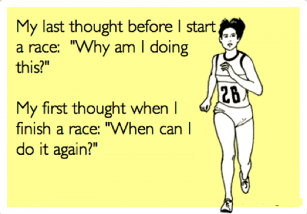 My Last Though Before I Start A Race