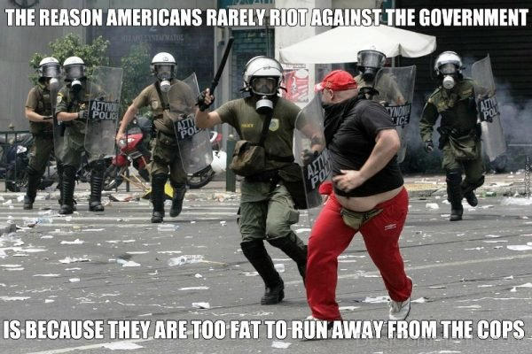 The Reason Americans Rarely Riot