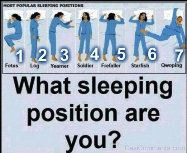What Sleeping Position Are You