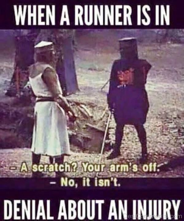 When A Runner Is In Denial