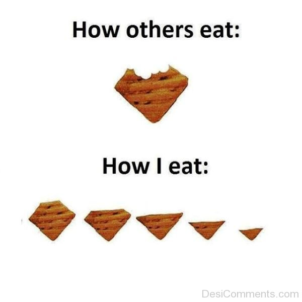 How Others Vs I Eat