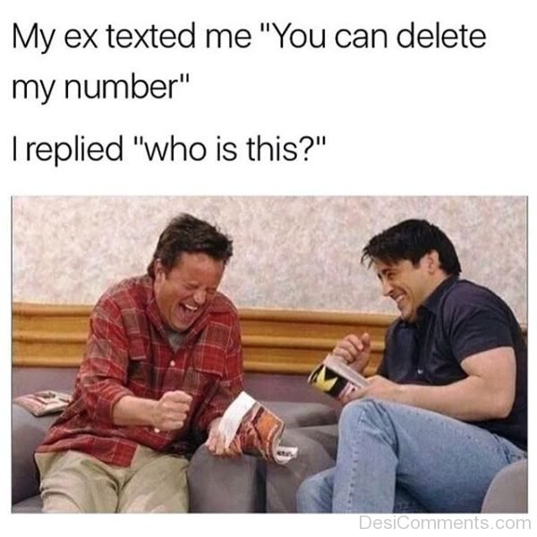My Ex Texted Me You Can Delete My Number