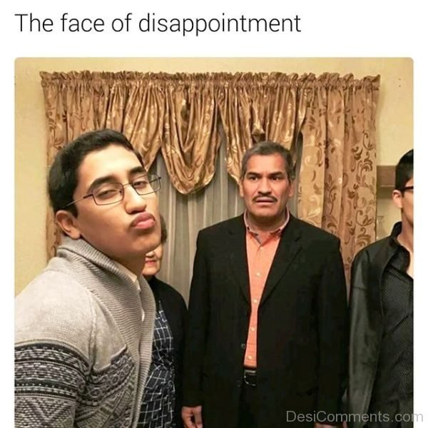 The Face Of Disappointment