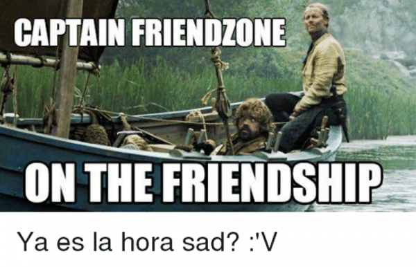 Captain Friendzone On The Friendship