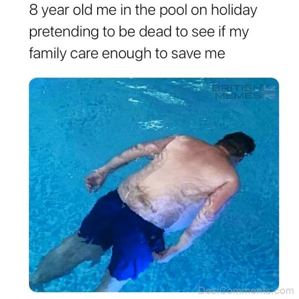 8 Year Old Me In The Pool