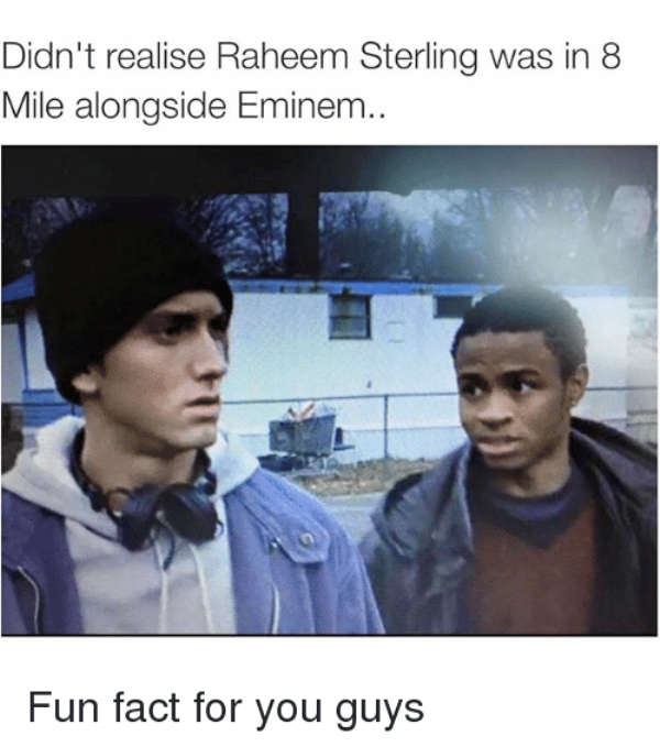 Didn't Realise Raheem Sterling