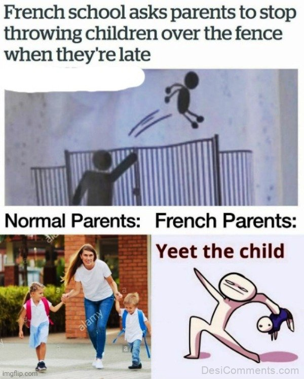 French School Asks Parents To Stop