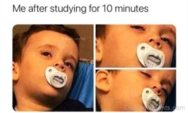 Me After Studying For 10 Minutes