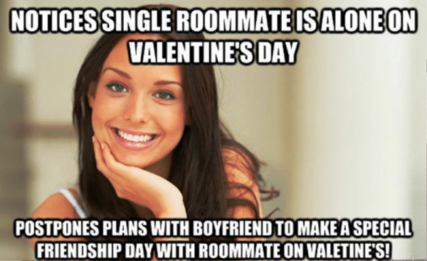 Notices Single Roommate