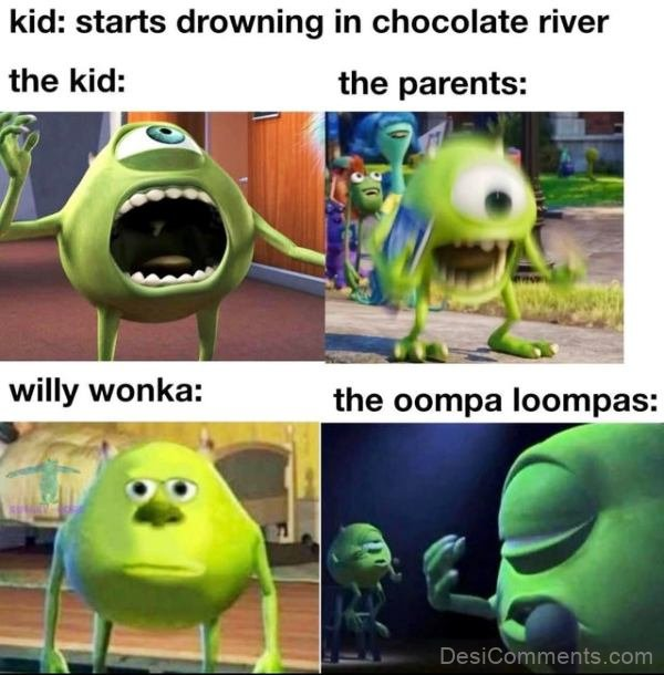 Starts Drowing In Chocolate River