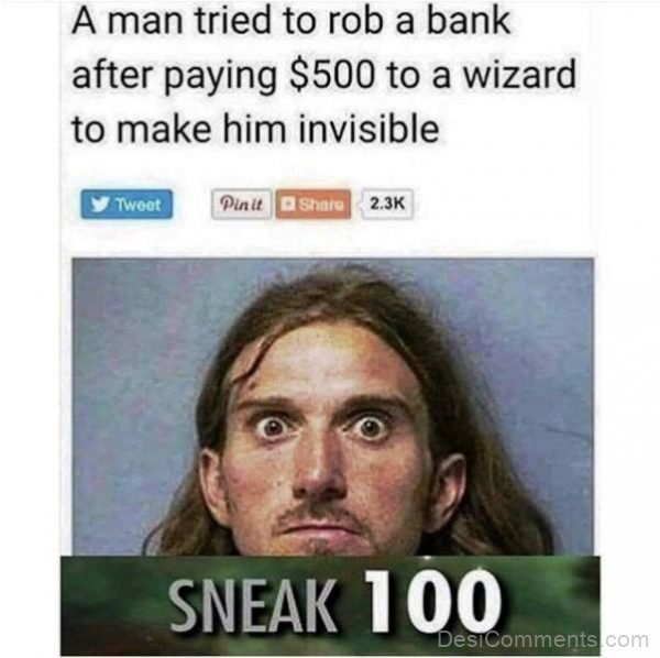 A Man Tried To Rob A Bank