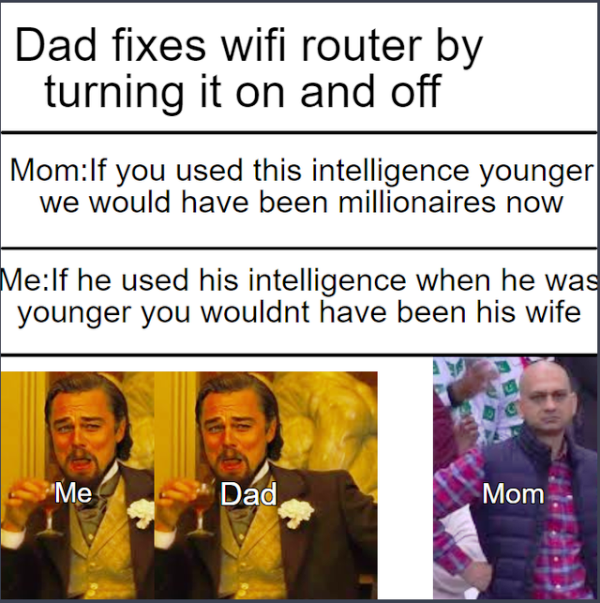 Dad Fixes Wifi Router