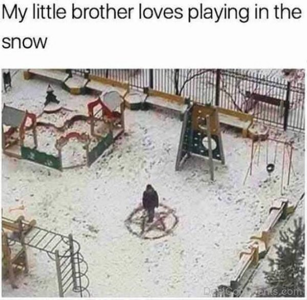 My Little Brother Loves Playing