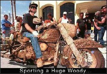 Sporting A Huge Woody