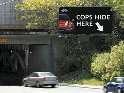 Cops Hide Here