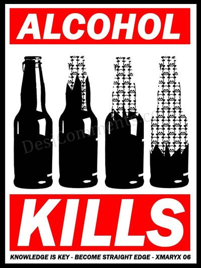 Alcohol Graphic - kills slowly