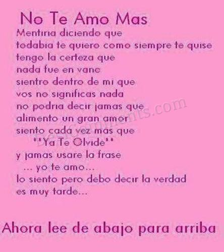 No Te Amo Mas DesiComments Unique Te Amo Quotes