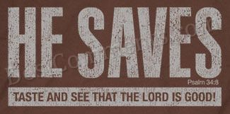Christian Graphic - He Saves