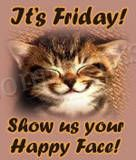 Cute Happy Cat's Face Friday Graphic