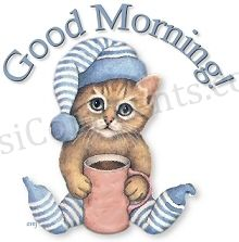 Picture: Cute Cat Good Morning Graphic