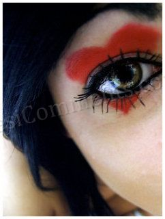 Picture: Red Heart On Eye