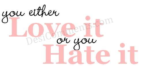 Picture: You either Love it or you hate it.