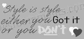 Picture: Style is Style…