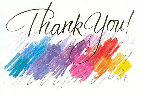 Picture: Colorful Thank You Graphic