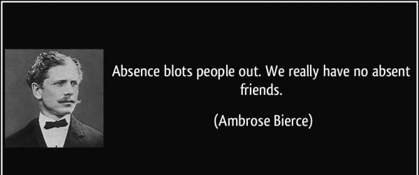 Absence Blots People Out