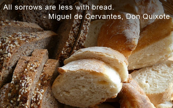 All sorrows are less with bread
