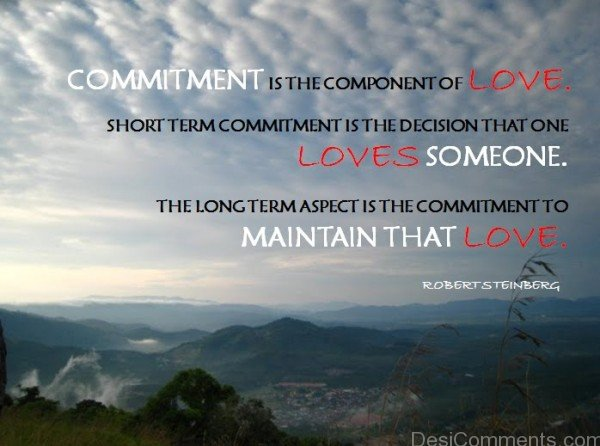 Commitment Is The Component Of Love
